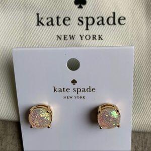 Kate Spade Opal Glitter Gold Earrings